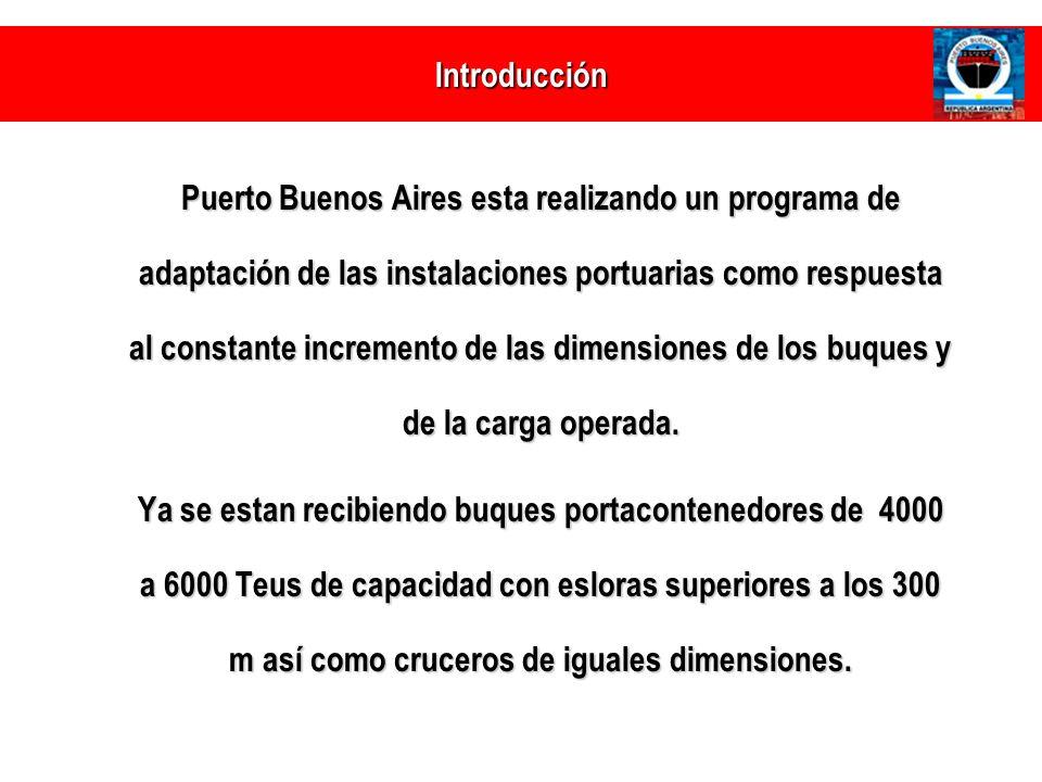 Movimiento Anual de Contenedores (en miles de TEUs) PUERTO BUENOS AIRES Puerto Buenos Aires a) a)Movimientos Portuarios: