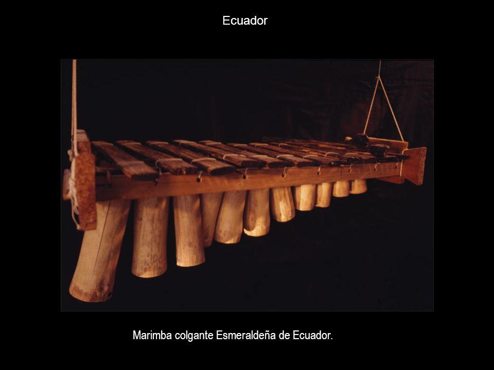 Ecuador Marimba colgante Esmeraldeña de Ecuador.