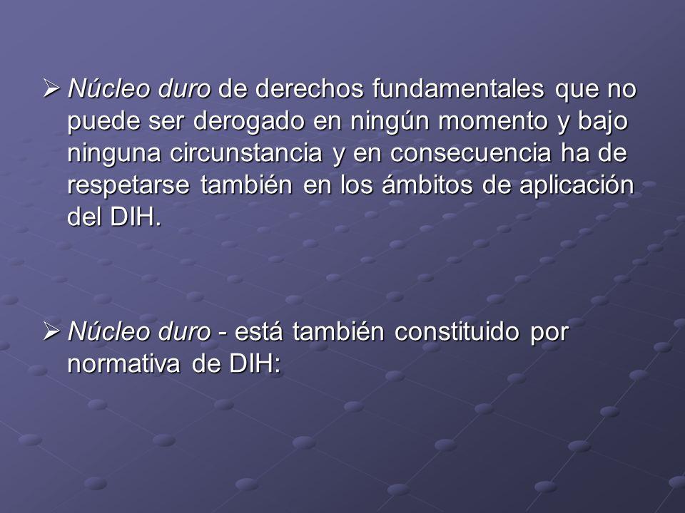 ARTÍCULO 3 COMÚN CG 1949 – CANI, mínimos de protección – también en CAI (CIJ – Actividades militares y paramilitares en y contra Nicaragua, 1986, párr.