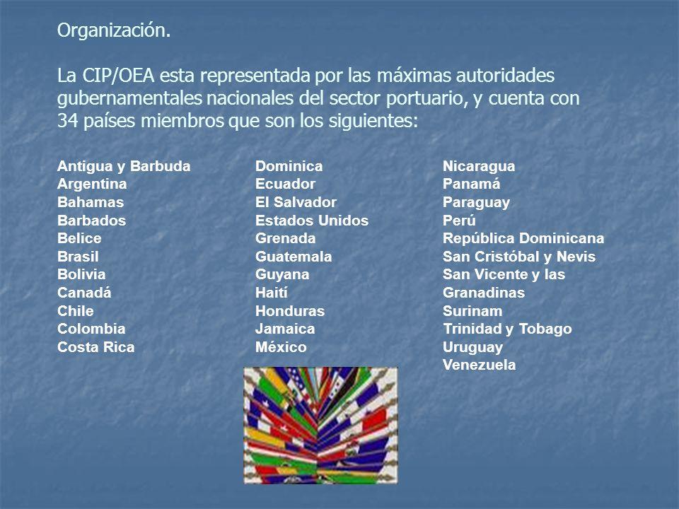 OBJETIVOS Actuar como órgano asesor principal de la OEA en materia portuaria.