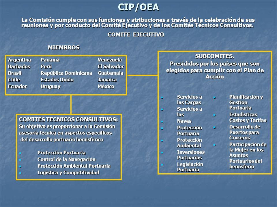CIP/OEA La Comisión cumple con sus funciones y atribuciones a través de la celebración de sus reuniones y por conducto del Comité Ejecutivo y de los Comités Técnicos Consultivos.