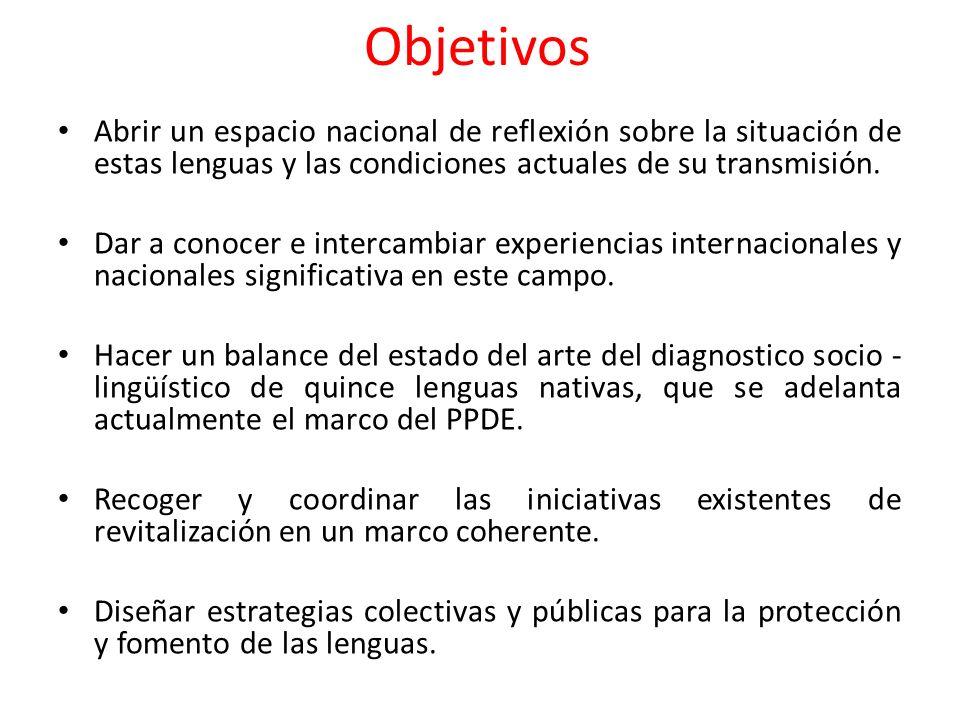 Dirigido a: Autoridades tradicionales, dirigentes y/o animadores culturales de cada grupo etnolingüístico.