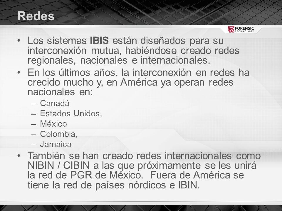 Redes Los sistemas IBIS están diseñados para su interconexión mutua, habiéndose creado redes regionales, nacionales e internacionales.