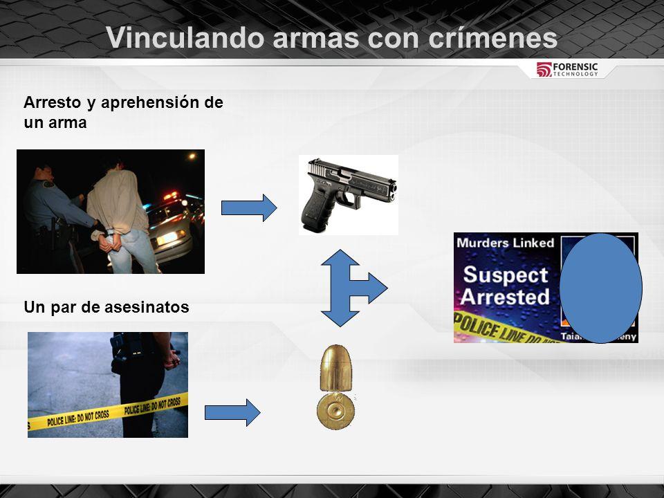 Vinculando armas con crímenes Arresto y aprehensión de un arma Un par de asesinatos