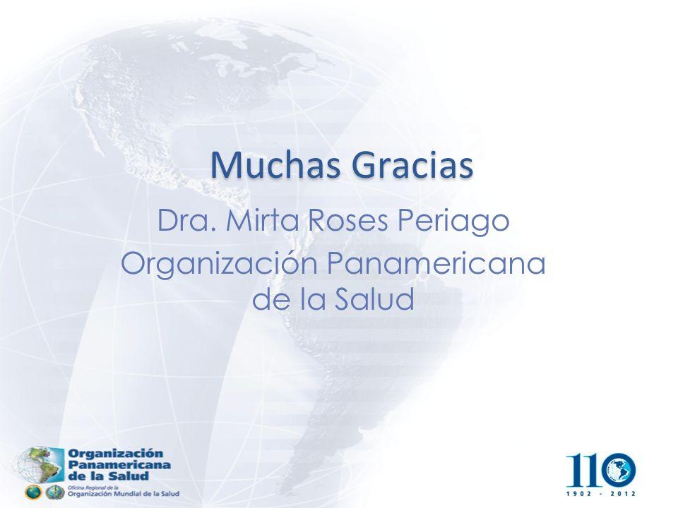 Muchas Gracias Dra. Mirta Roses Periago Organización Panamericana de la Salud