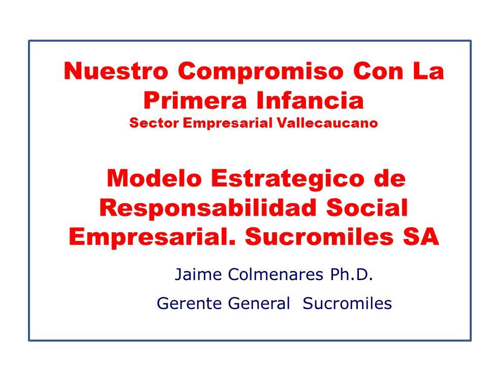 Nuestro Compromiso Con La Primera Infancia Sector Empresarial Vallecaucano Modelo Estrategico de Responsabilidad Social Empresarial. Sucromiles SA Jai