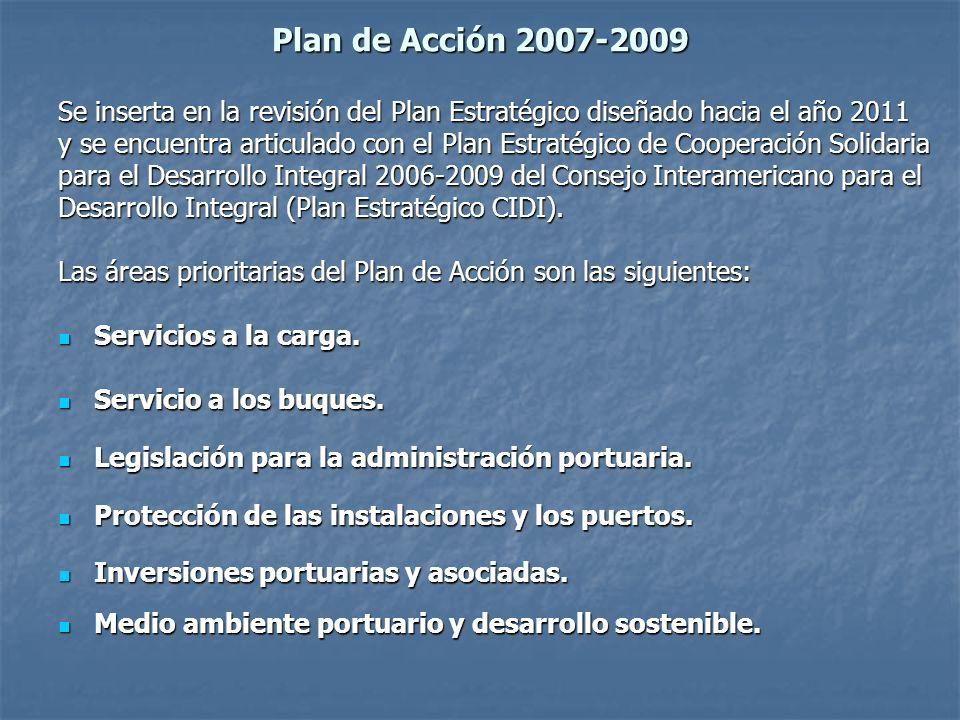 Plan de Acción 2007-2009 Se inserta en la revisión del Plan Estratégico diseñado hacia el año 2011 y se encuentra articulado con el Plan Estratégico de Cooperación Solidaria para el Desarrollo Integral 2006-2009 del Consejo Interamericano para el Desarrollo Integral (Plan Estratégico CIDI).