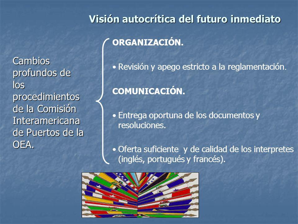 Visión autocrítica del futuro inmediato Cambios profundos de los procedimientos de la Comisión Interamericana de Puertos de la OEA.