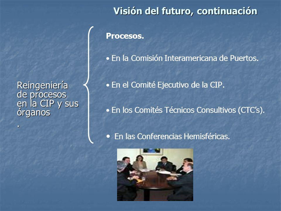 Visión del futuro, continuación Reingeniería de procesos en la CIP y sus órganos.