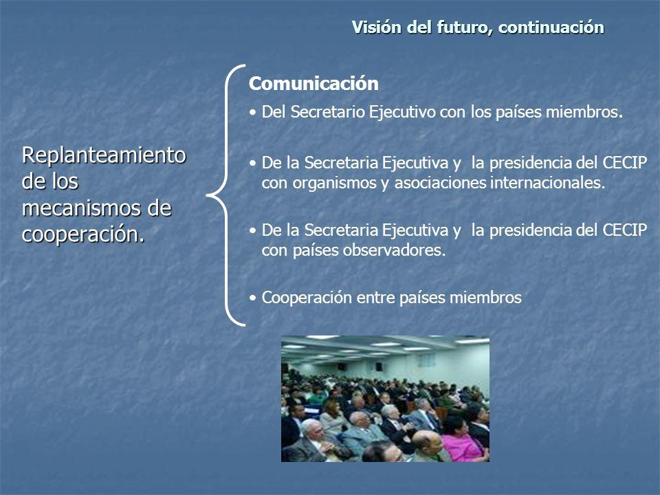 Visión del futuro, continuación Replanteamiento de los mecanismos de cooperación.