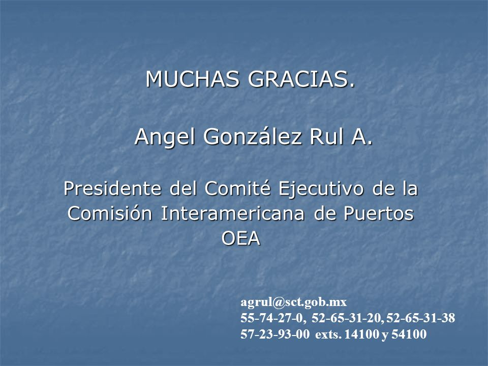 MUCHAS GRACIAS. MUCHAS GRACIAS. Angel González Rul A.