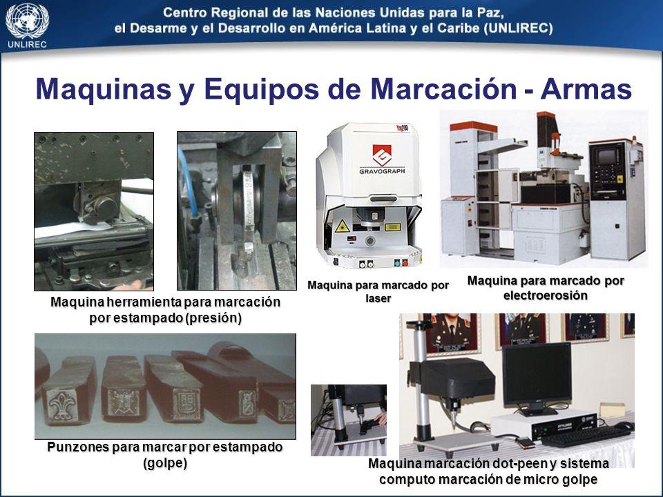 Maquina herramienta para marcación por estampado (presión) Maquinas y Equipos de Marcación - Armas Punzones para marcar por estampado (golpe) Maquina