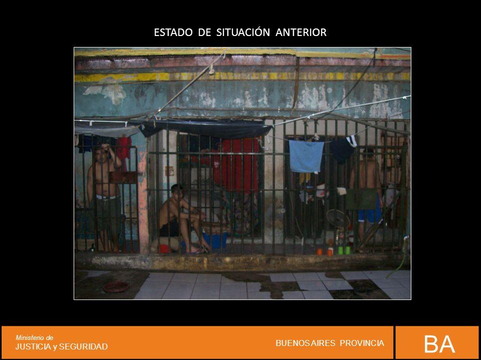 ESTADO DE SITUACIÓN ANTERIOR BA Ministerio de JUSTICIA y SEGURIDAD BUENOS AIRES PROVINCIA