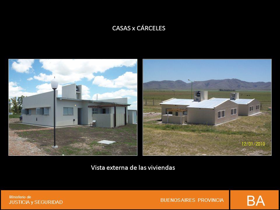 CASAS x CÁRCELES Vista externa de las viviendas BA Ministerio de JUSTICIA y SEGURIDAD BUENOS AIRES PROVINCIA