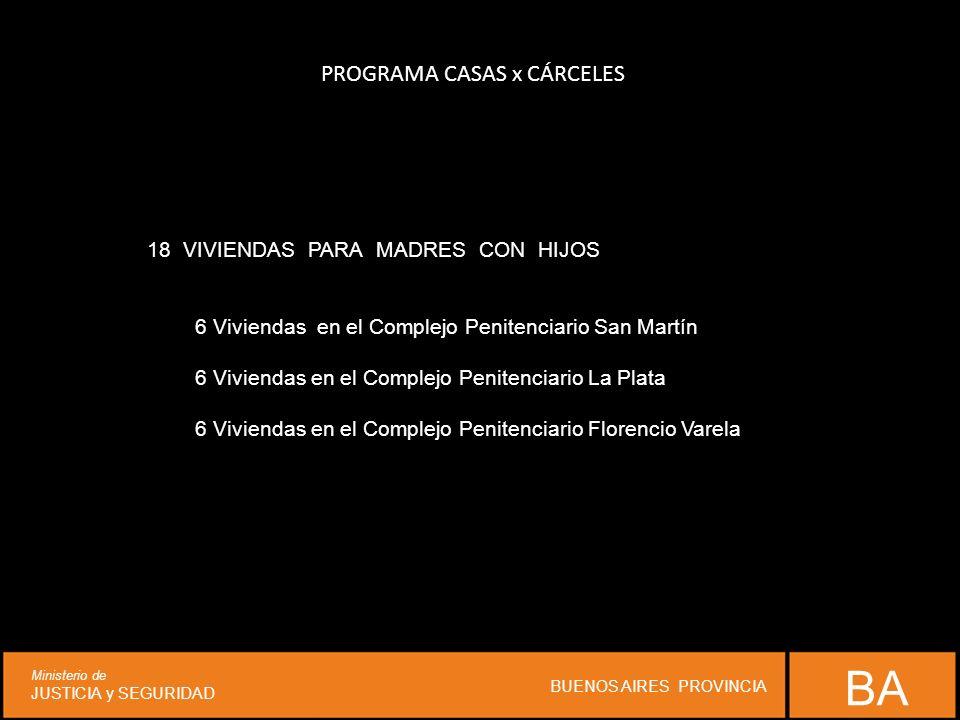 PROGRAMA CASAS x CÁRCELES 18VIVIENDAS PARA MADRES CON HIJOS 6 Viviendas en el Complejo Penitenciario San Martín 6 Viviendas en el Complejo Penitenciar