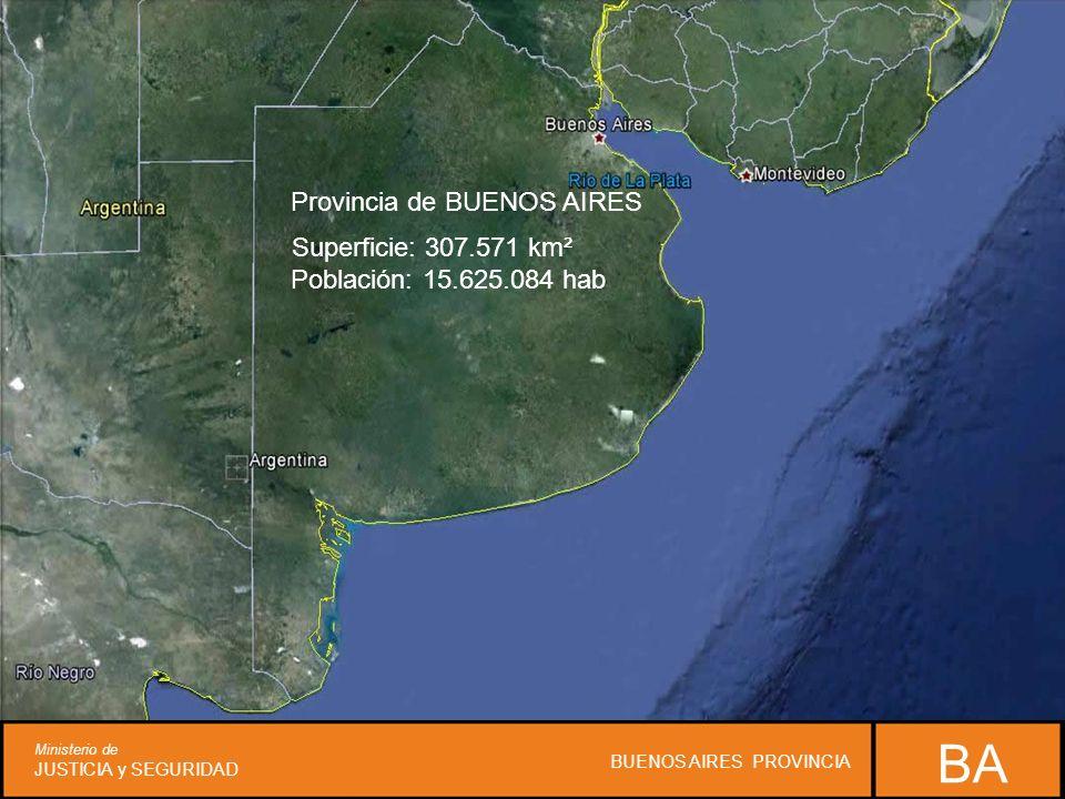 ARGENTINA República federal democrática Superficie: 3.761.274 km² Población: 41.117.096 hab. Provincia de BUENOS AIRES Superficie: 307.571 km² Poblaci
