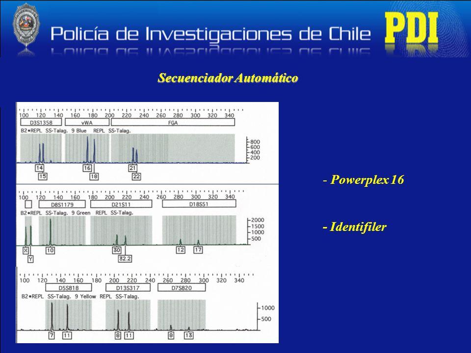 Secuenciador Automático - Powerplex 16 - Identifiler