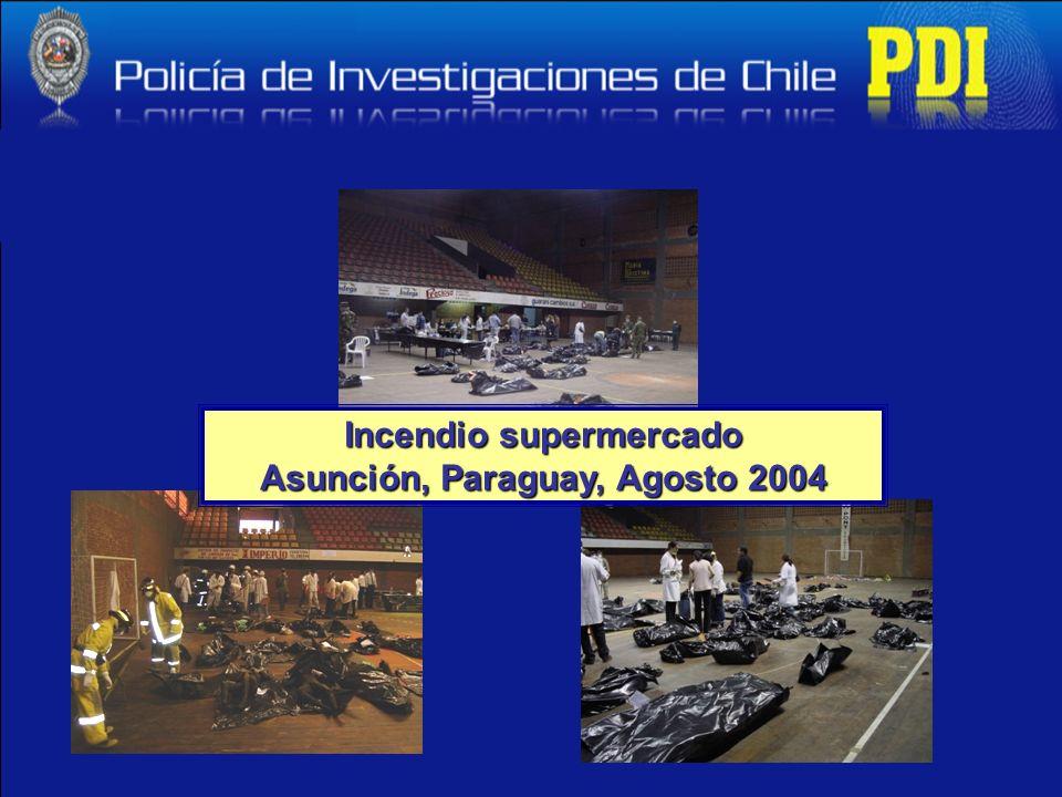 Incendio supermercado Asunción, Paraguay, Agosto 2004