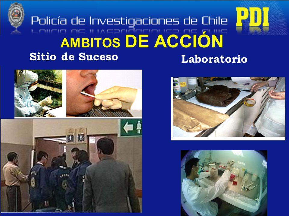 AMBITOS DE ACCIÓN Sitio de Suceso Laboratorio