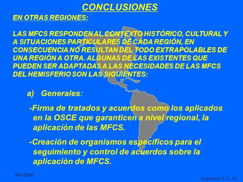 NOV 2006 Exposición C.D. JID. CONCLUSIONES EN OTRAS REGIONES: LAS MFCS RESPONDEN AL CONTEXTO HISTÓRICO, CULTURAL Y A SITUACIONES PARTICULARES DE CADA