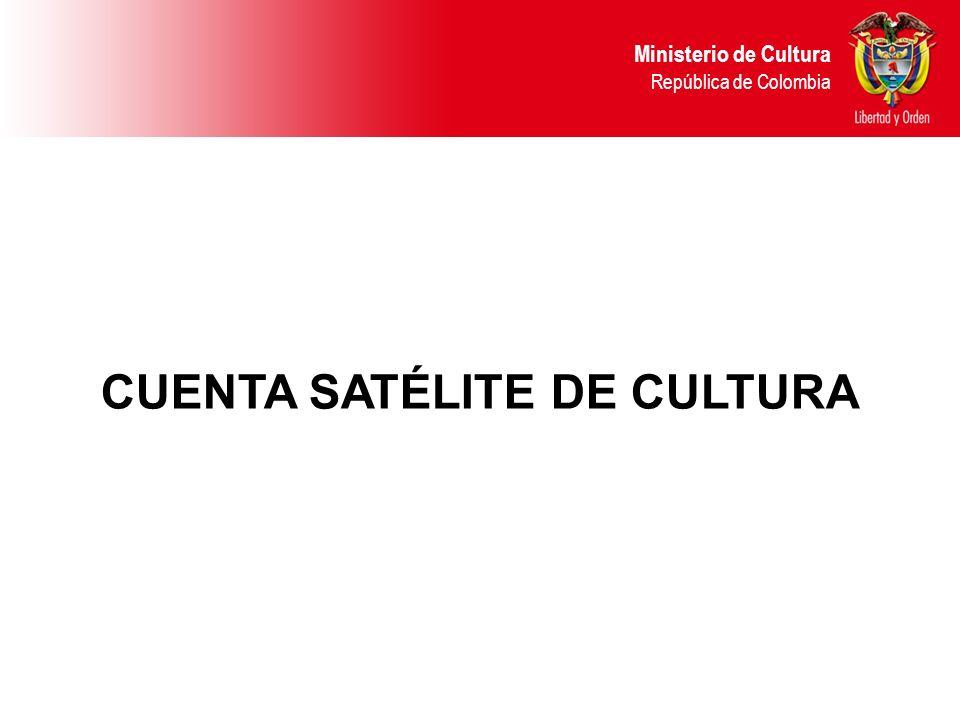 CUENTA SATÉLITE DE CULTURA Ministerio de Cultura República de Colombia
