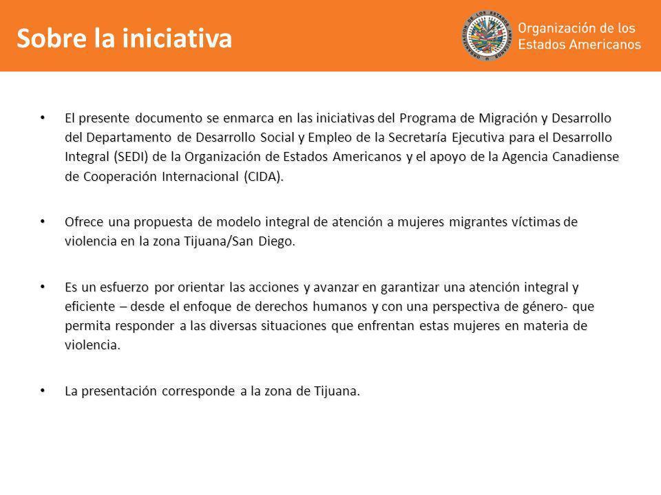 Sobre la iniciativa El presente documento se enmarca en las iniciativas del Programa de Migración y Desarrollo del Departamento de Desarrollo Social y