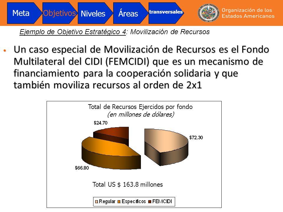 Un caso especial de Movilización de Recursos es el Fondo Multilateral del CIDI (FEMCIDI) que es un mecanismo de financiamiento para la cooperación sol