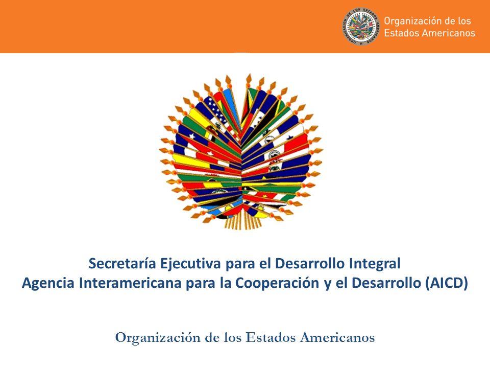 Secretaría Ejecutiva para el Desarrollo Integral Agencia Interamericana para la Cooperación y el Desarrollo (AICD) Organización de los Estados Americanos