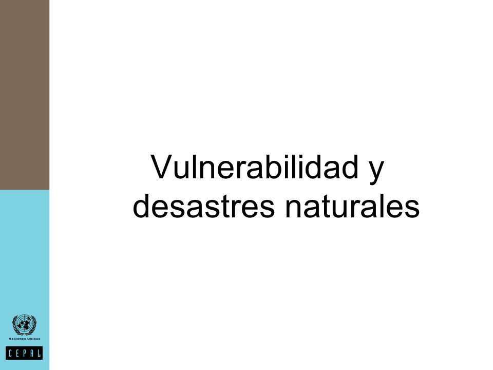 Vulnerabilidad y desastres naturales