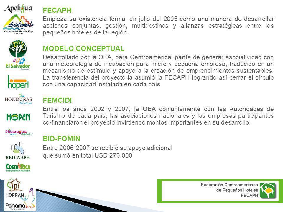 FECAPH Empieza su existencia formal en julio del 2005 como una manera de desarrollar acciones conjuntas, gestión, multidestinos y alianzas estratégica