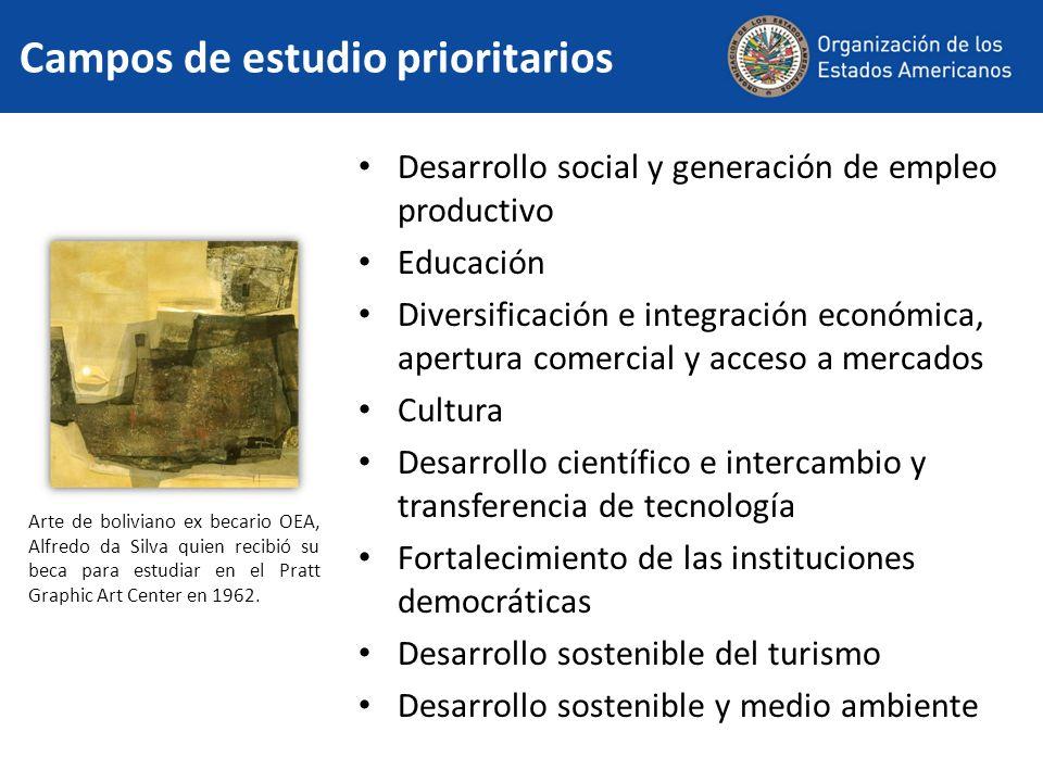 Desarrollo social y generación de empleo productivo Educación Diversificación e integración económica, apertura comercial y acceso a mercados Cultura