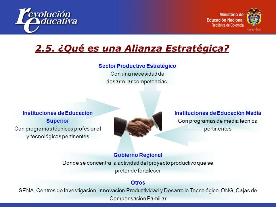 Sector Productivo Estratégico Con una necesidad de desarrollar competencias. Gobierno Regional Donde se concentra la actividad del proyecto productivo