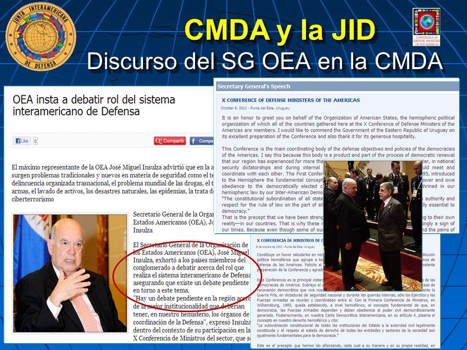 Discurso del SG OEA en la CMDA CMDA y la JID