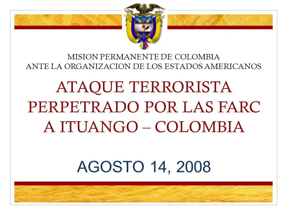 MISION PERMANENTE DE COLOMBIA ANTE LA ORGANIZACION DE LOS ESTADOS AMERICANOS