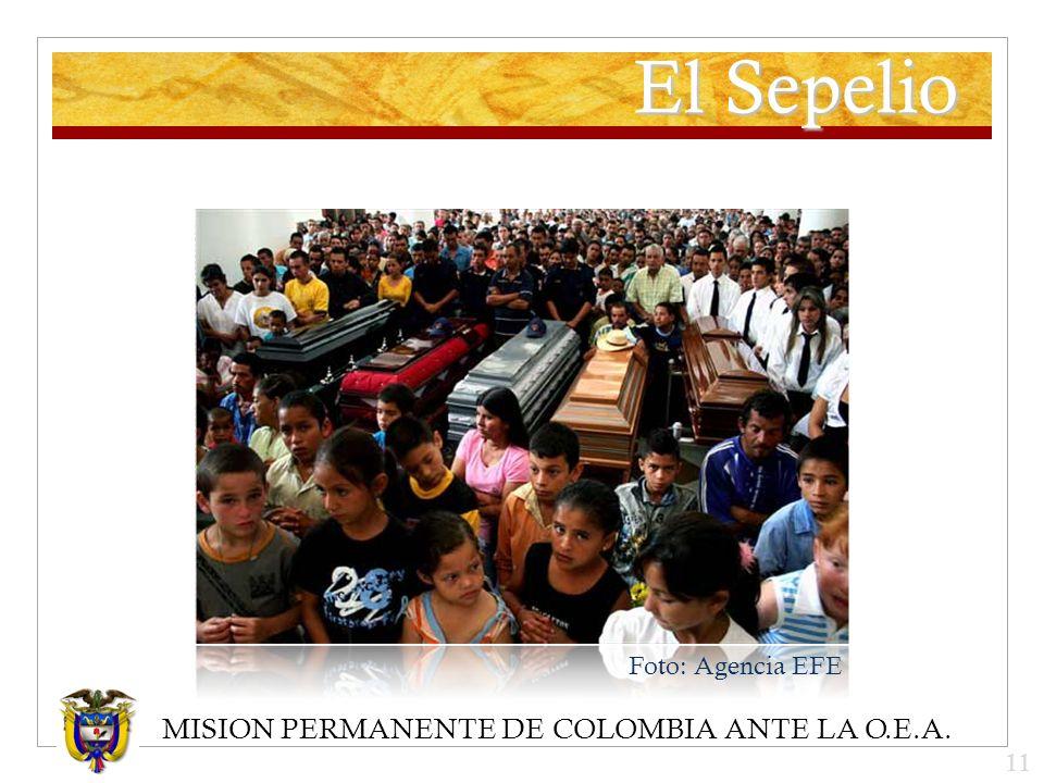 MISION PERMANENTE DE COLOMBIA ANTE LA O.E.A. El Sepelio Foto: Agencia EFE 11