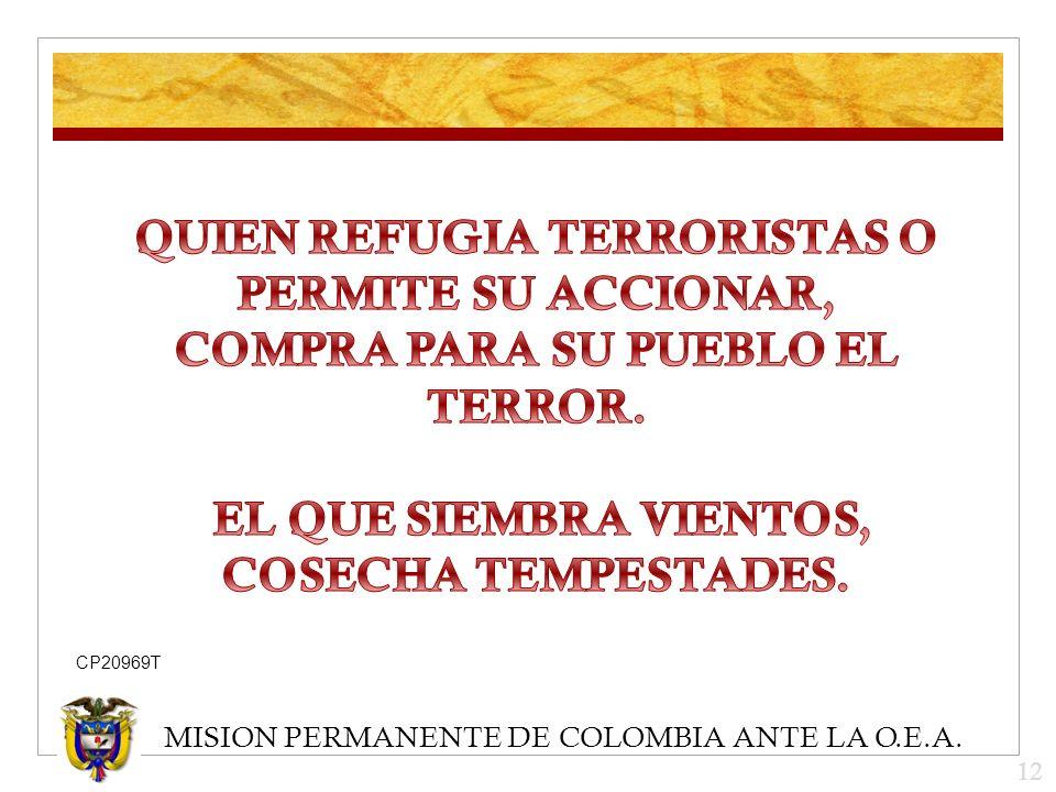 MISION PERMANENTE DE COLOMBIA ANTE LA O.E.A. 12 CP20969T