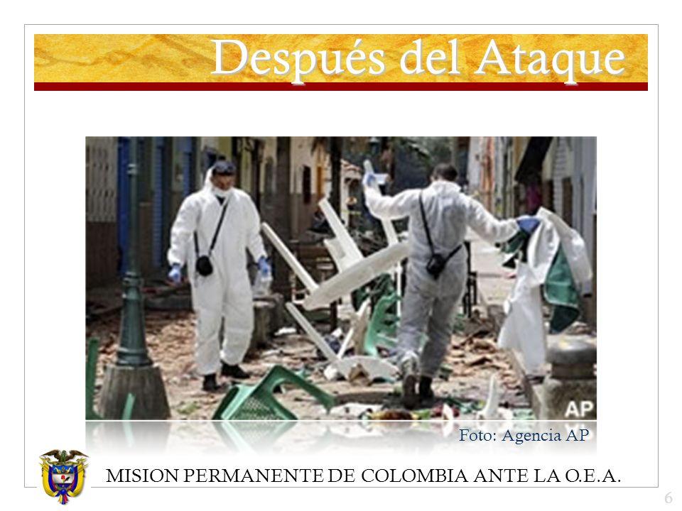 MISION PERMANENTE DE COLOMBIA ANTE LA O.E.A. Después del Ataque Foto: Agencia AP 6