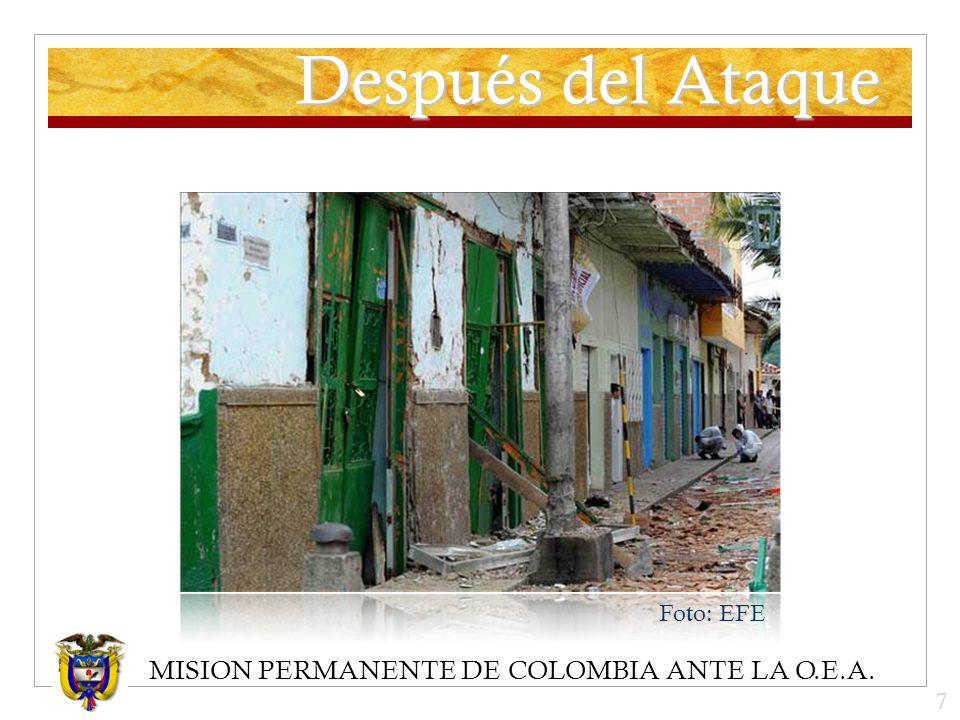 MISION PERMANENTE DE COLOMBIA ANTE LA O.E.A. Después del Ataque Foto: EFE 7