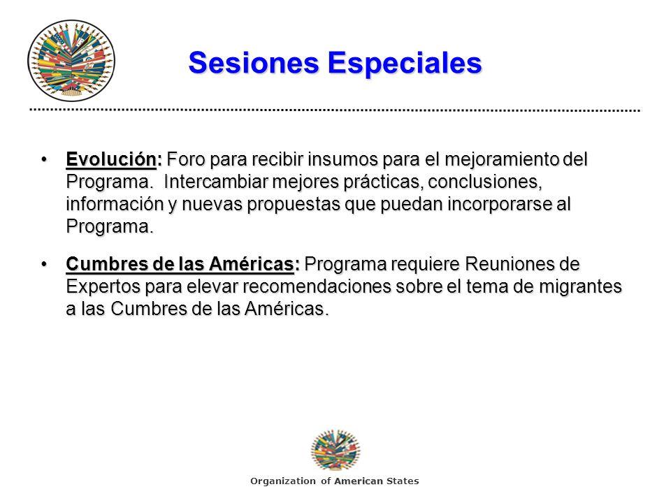 Sesiones Especiales Evolución:Foro para recibir insumos para el mejoramiento del Programa.
