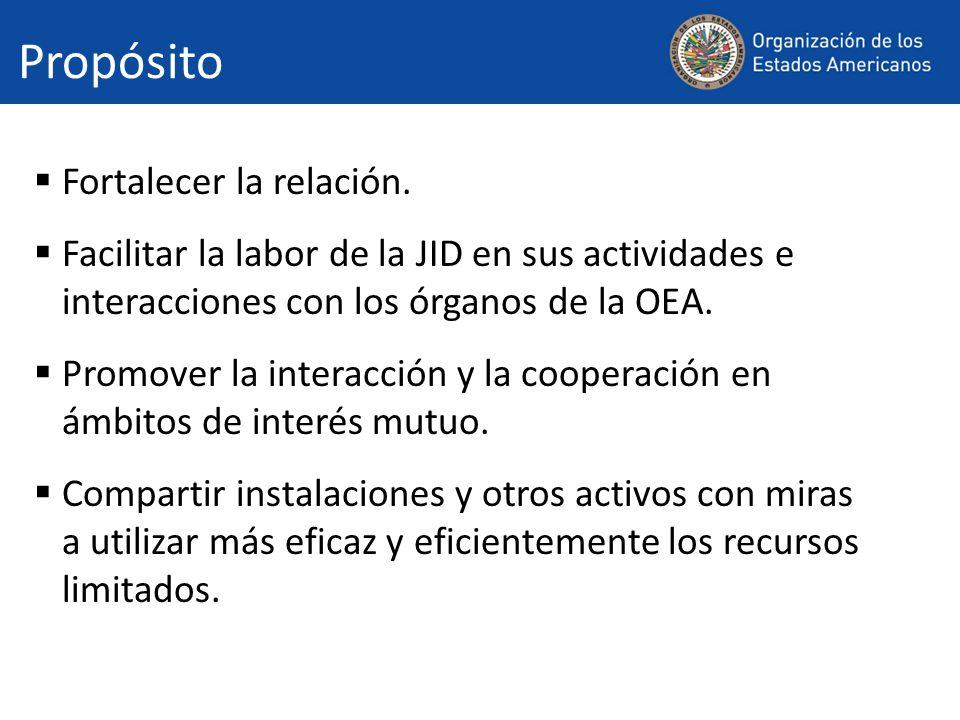 Plan La OEA suministrará tres oficinas y cuatro cubículos en total, incluyendo la oficina y el cubículo en el 8°piso asignados actualmente a la JID.