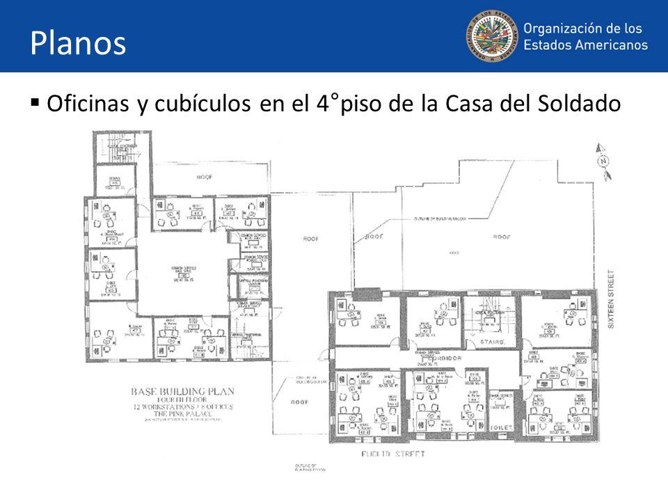 Planos Oficinas y cubículos en el 8°piso del Edificio de la Secretaría General (GSB) de la OEA