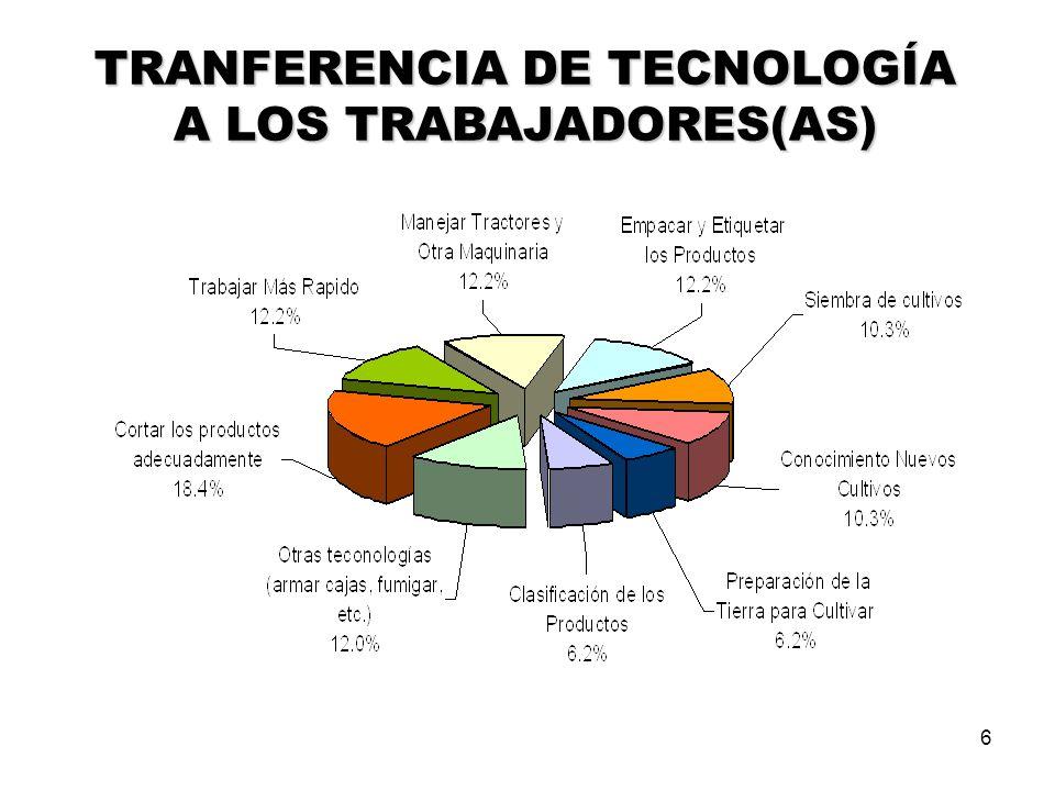 6 TRANFERENCIA DE TECNOLOGÍA A LOS TRABAJADORES(AS)