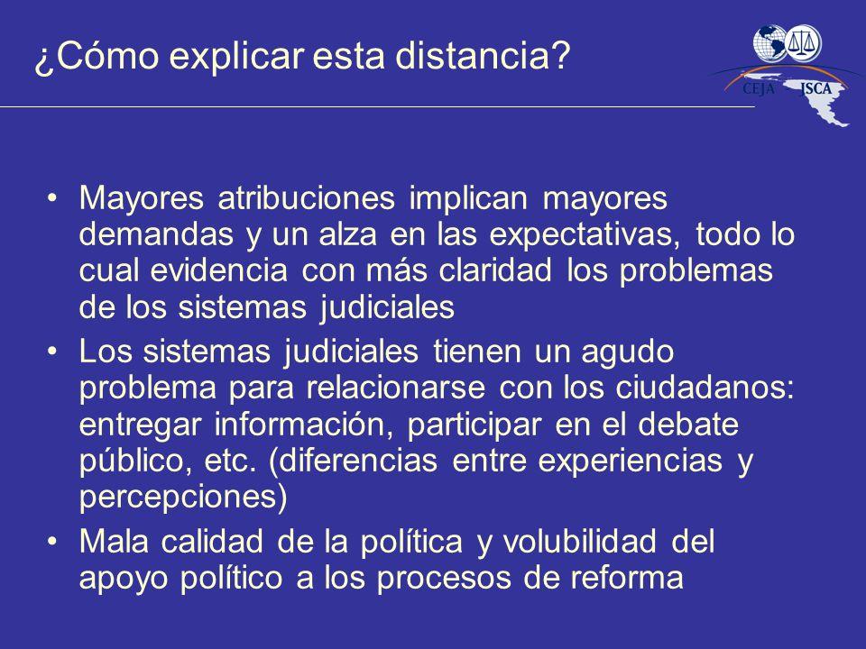 ¿Cómo explicar esta distancia? Mayores atribuciones implican mayores demandas y un alza en las expectativas, todo lo cual evidencia con más claridad l