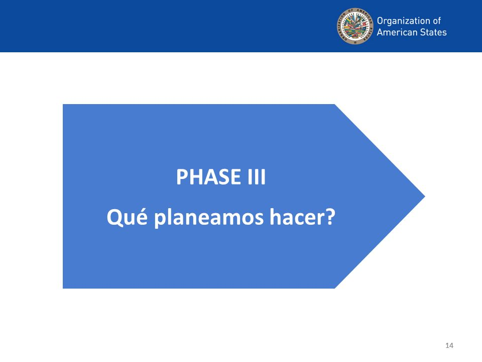 14 PHASE III Qué planeamos hacer