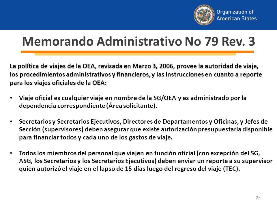 23 Memorando Administrativo No 79 Rev.