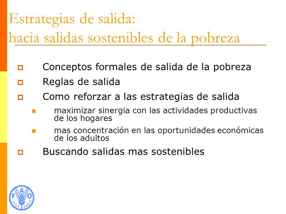 Conceptos formales de salida de la pobreza 1.