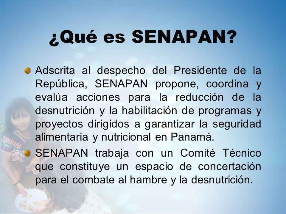 ¿Qué es SENAPAN? Adscrita al despecho del Presidente de la República, SENAPAN propone, coordina y evalúa acciones para la reducción de la desnutrición