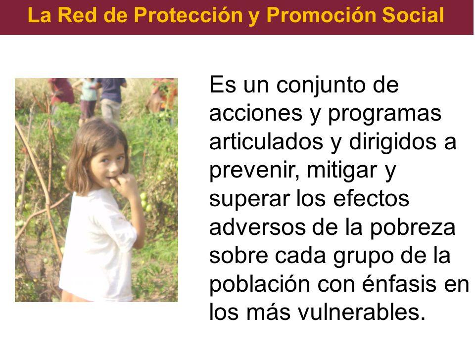 La Red de Protección y Promoción Social Es un conjunto de acciones y programas articulados y dirigidos a prevenir, mitigar y superar los efectos adver