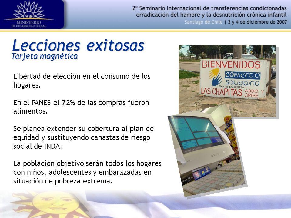 Lecciones exitosas Libertad de elección en el consumo de los hogares.