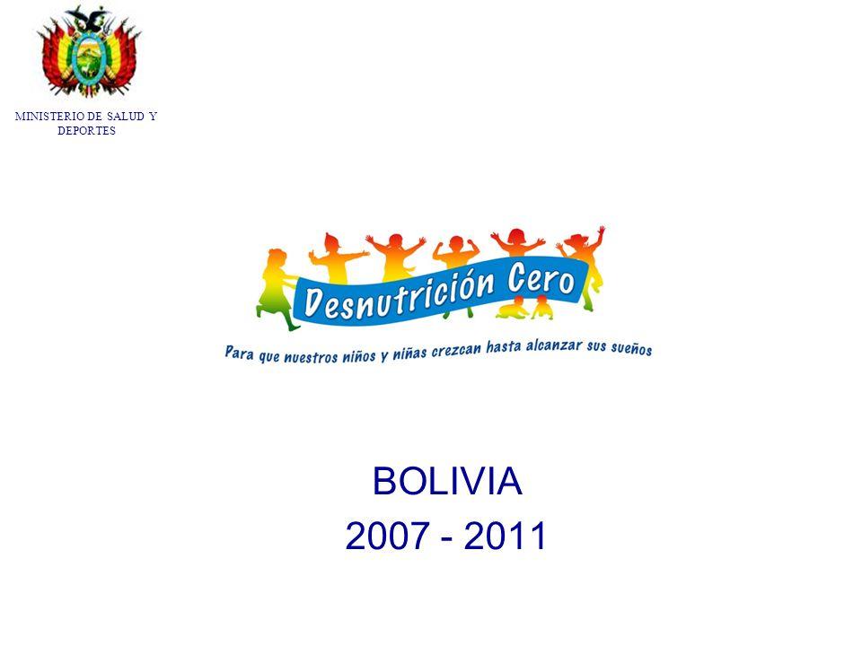 BOLIVIA 2007 - 2011 MINISTERIO DE SALUD Y DEPORTES